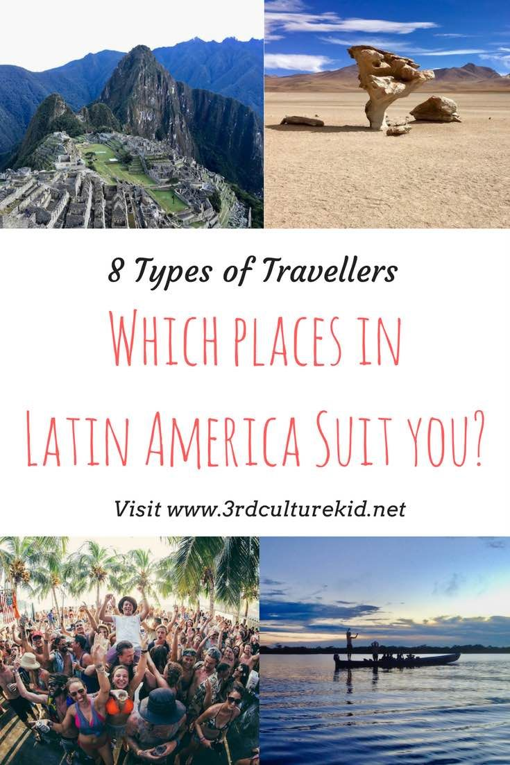 Do you want to travel to Latin America but you don't know where to go? Find out which type of traveller you are and which destinations suit you.