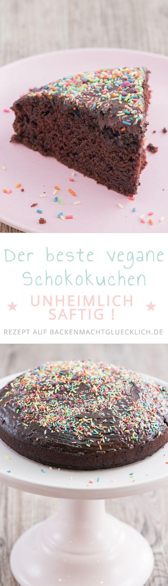 Der beste vegane Schokoladenkuchen – super saftig, schokoladig und extrem schnell zu trinken …   – Vegane Backrezepte