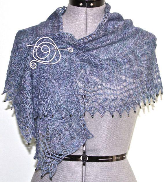 Hand dyed Lace Shawl by MingoHandknits on Etsy, $85.00