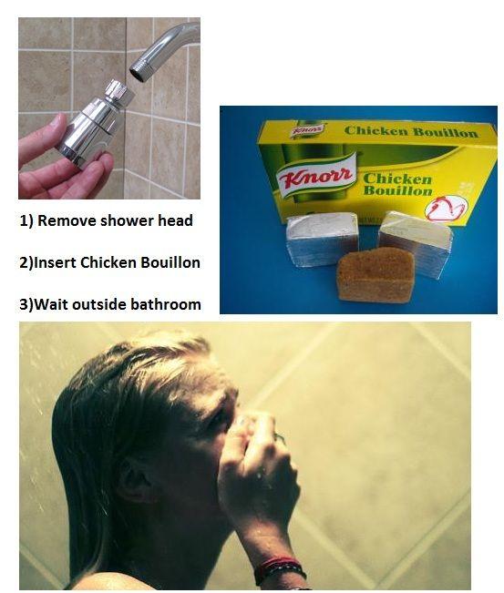 Shower prank.