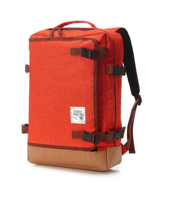 Multipocket Backpack Orange van BagDoRi op Etsy