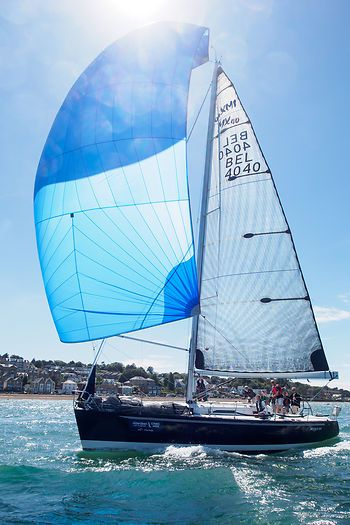 The IMX-40 yacht 'Spookschip' competing during Cowes Week