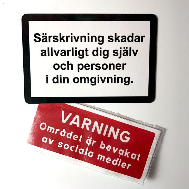 Kylskåpsmagnet: Särskrivning skadar/Socialstyrelsen | pugshop.se 🐶