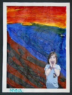 "Awesome Edvard Munch ""Scream"" art lesson to do with kids!"