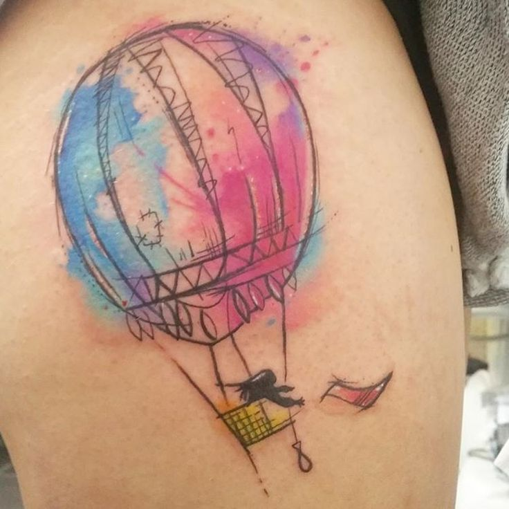 Body Tattoo S Watercolor Hot Air Balloon Body Tattoos Hot