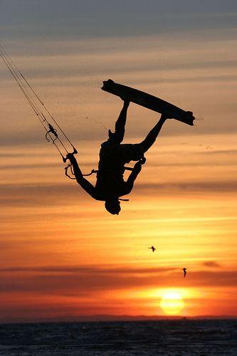 #été #summer saut de kitesurf
