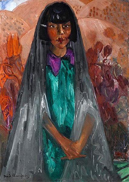 Борис Анисфельд. Портрет молодой испанской девушки.