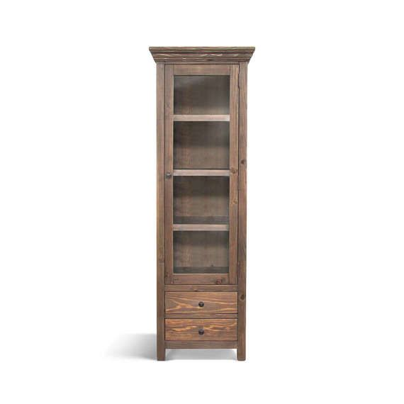 Bookcase Display Cabinet Bookshelves Wood Cabinet