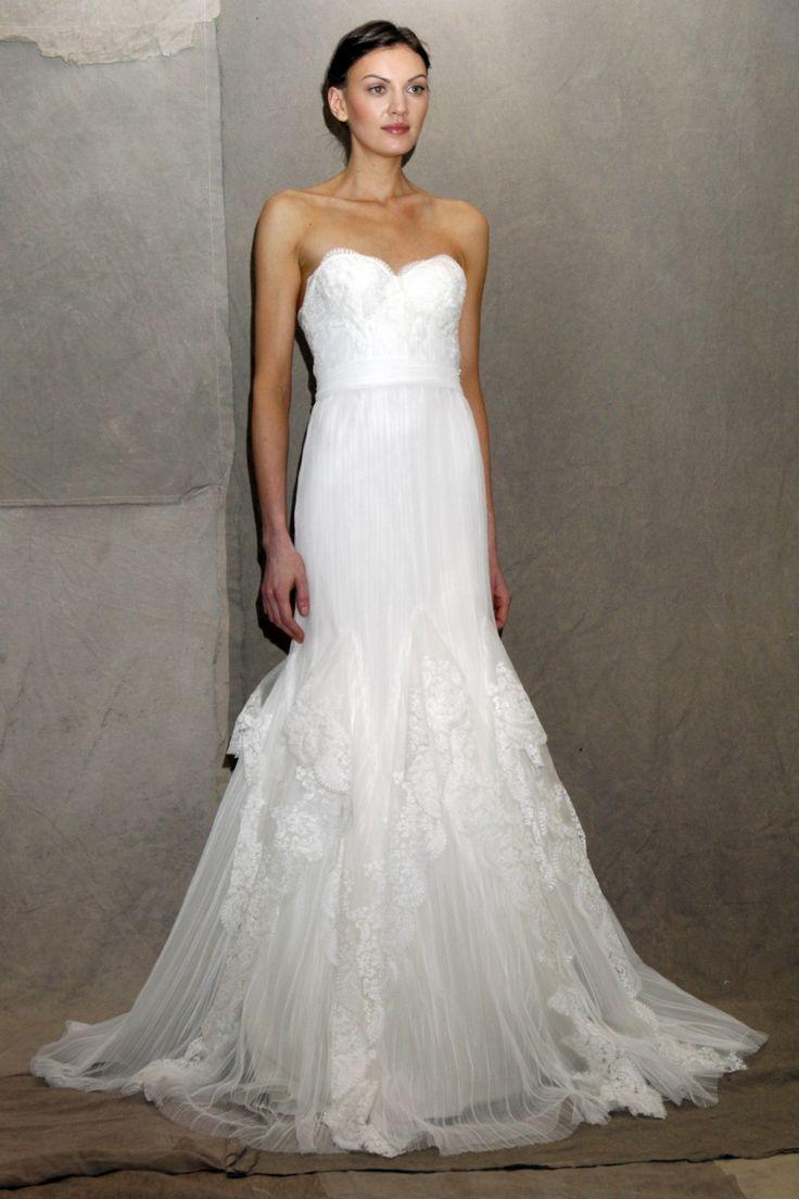 Lela Rose White Lace No Strap Wedding Dress Bridesmaid Bridal S