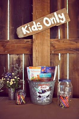 Having kids at the wedding? have a kids only section with stuff for them to do!