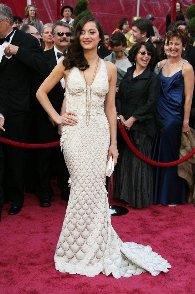 2008: Marion Cotillard za Niczego nie żałuję, suknia Jean Paul Gaultier