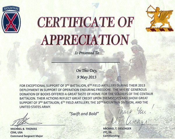 military Certificates with flag | Character is of army certificate of appreciation movies choose what ...