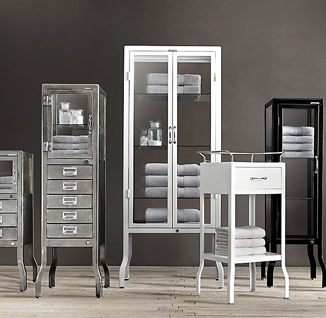 Pharmacy Large Bath Cabinet With Drawers In 2020 Bath Cabinets Bathrooms Remodel Cabinet Drawers