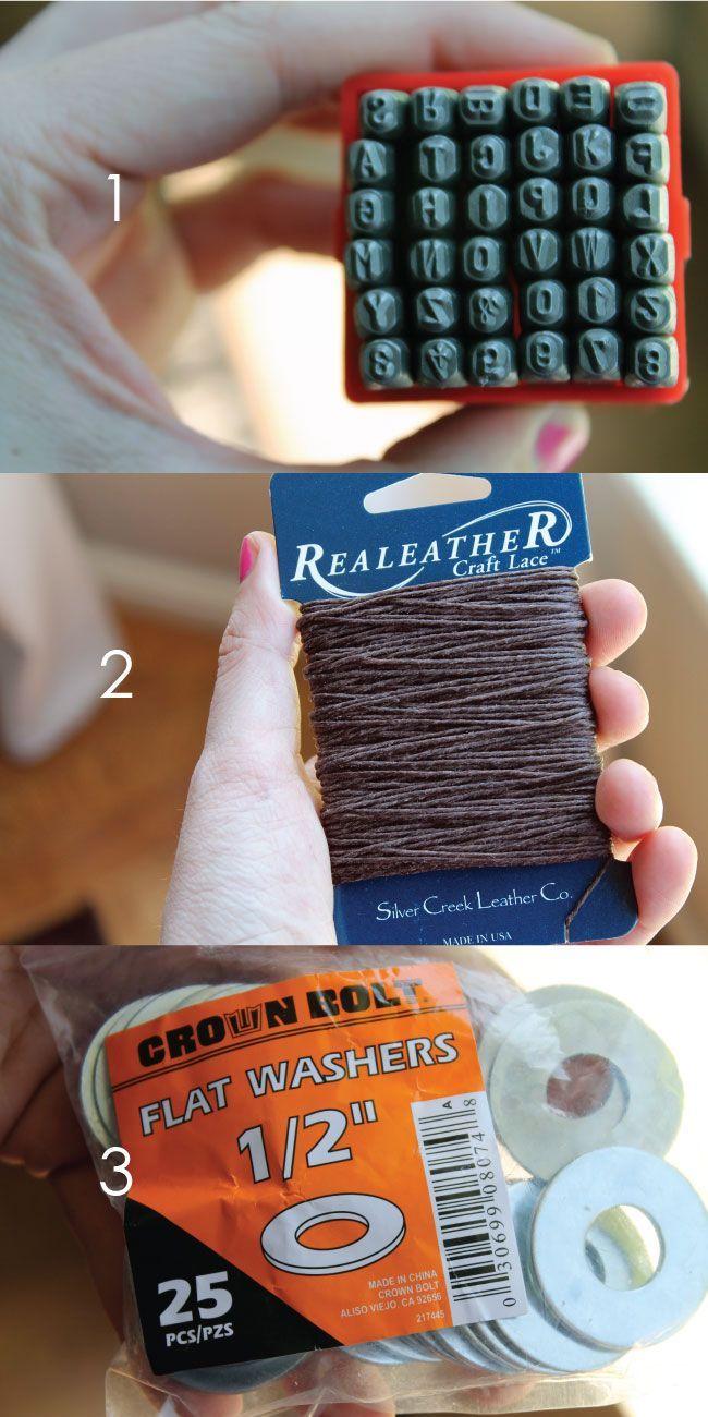 DIY Washer Bracelet   Chris Loves Julia @ http://www.chrislovesjulia.com/2012/05/diy-washer-bracelet.html
