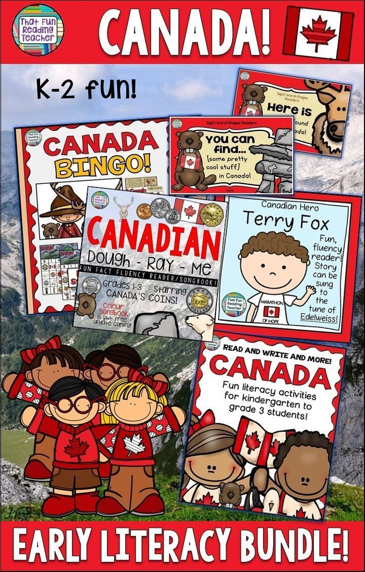This is my go-to collection of fun, literacy (plus) activities for teaching children about Canada! Read, write, sing, play and learn about what makes Canada so special! $