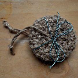 Jute dish scrubbies. Zero waste crochet.