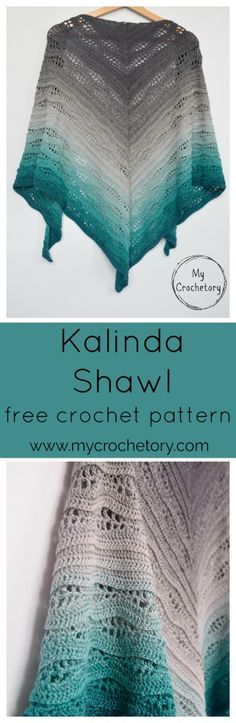 quick to grow highly satysfying crochet shawl. It was such a pleasure to design. Kalinda Shawl is a beautiful triangle-shaped wrap worked from top to down. I ...