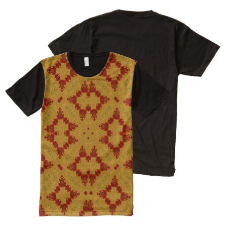 Abstract Pattern red yellow pattern All-Over-Print T-Shirt - click to get yours right now!
