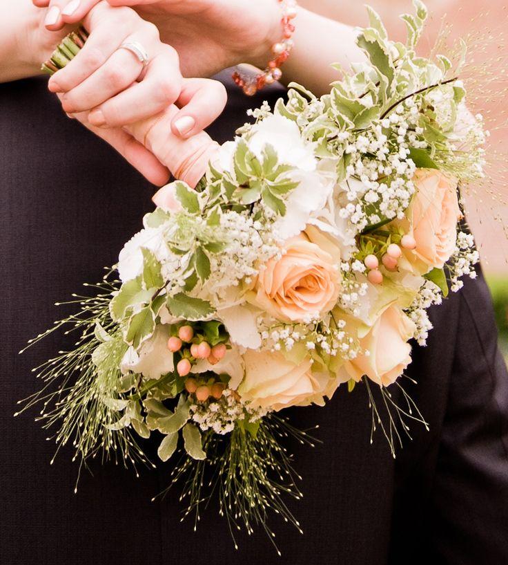 Bouquet mariée pêche