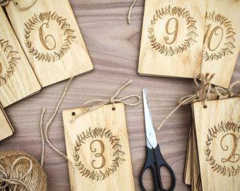 Venta de VACACIONES - tabla de números - boda tabla números - madera tabla número - bodas / decoración - número de la tabla de la tabla de números - \ 1 a 20 set \ por WeddingCraftShop