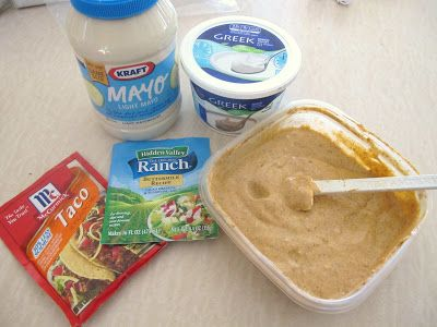 Homemade Light Southwest Salad Dressing - 1/2 cup light mayo 1/2 cup plain greek yogurt 1 package taco seasoning 1 package ranch dressing add water to achieve desired consistency (I use 1/4-1/2 cup or so??)