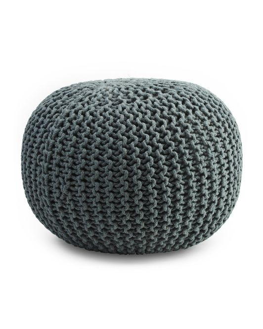 Made In India Majestic Knit Pouf In 2019 Apt Decor Knitted Pouf