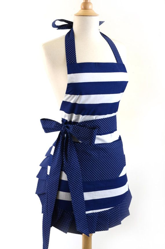 Hey, I found this really awesome Etsy listing at https://www.etsy.com/listing/187084807/flirty-aprons-nautical-navy-apron-is