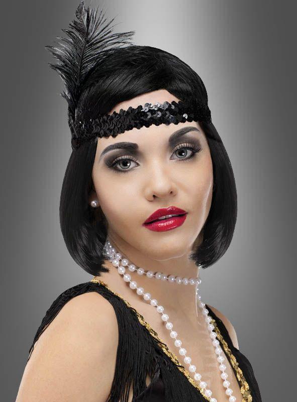 Charleston Kostüm Zubehör Set 20er Jahre Mottoparty