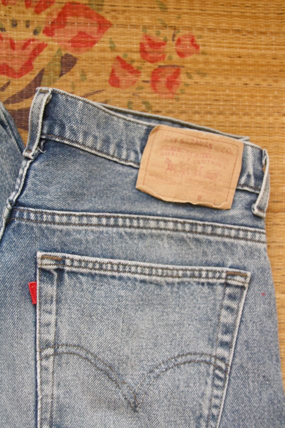 Classic Levis 501s. 90s denim high waisted by ForestHillTradingCo