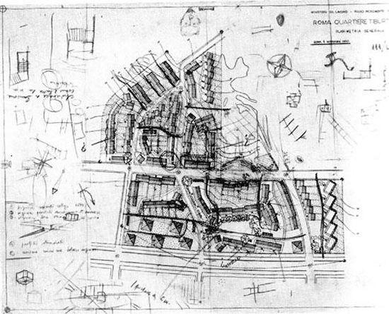 Quartiere Tiburtino (Roma) - L. Quaroni e M. Ridolfi, 1949-1954