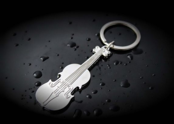Violin key chain Huge sale violin keychain fiddle with music note gift
