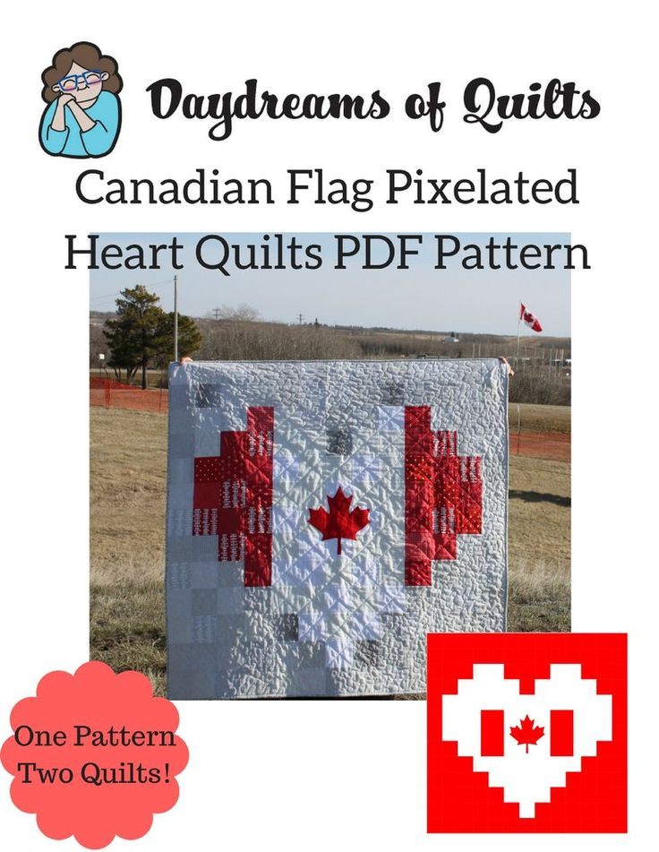 pixilated heart quilt pdf patterns