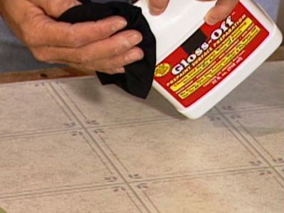 Did you know you can paint your Vinyl floors...what a great idea and inexpensive!