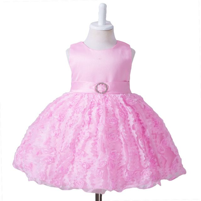 Special offer Dress Girl tutu dress with bow rose 1 year birthday girl well party dress children's clothing baby dress just only $13.35 - 13.69 with free shipping worldwide  #babygirlsclothing Plese click on picture to see our special price for you