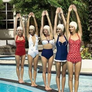 Vintage Retro pinup summer swim bathing suits