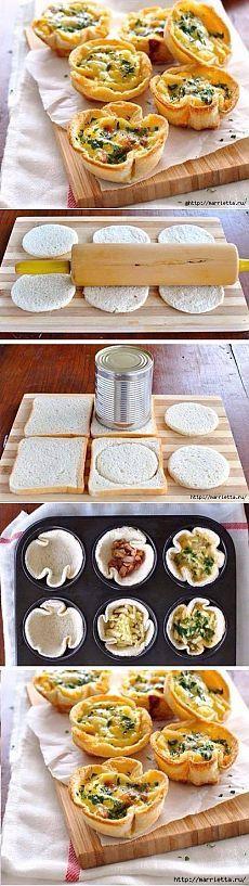 Хлебные тарталетки на все случаи жизни своими руками быстро | Четыре вкуса