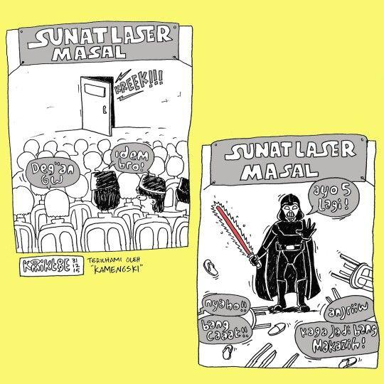 komik sunatan masal ~ starwars meme comic
