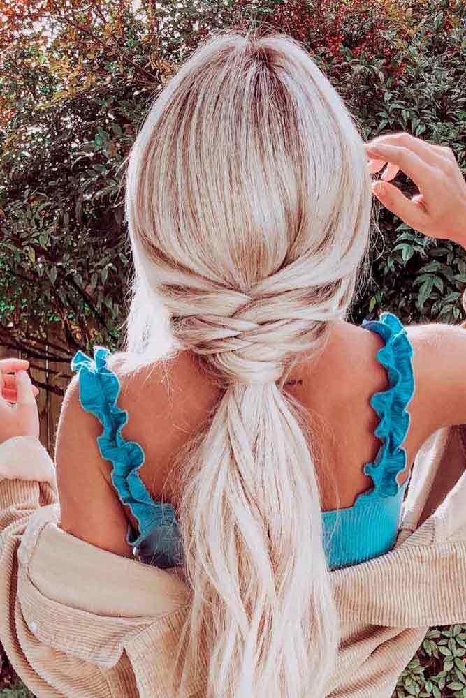 Stylish Low Ponytail #lowponitailhair #longhair ★ Discover trendy easy summer hairstyles 2019 here. We have pretty idea…
