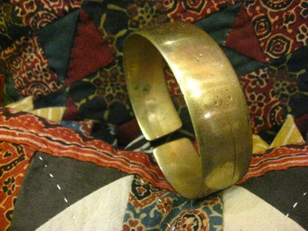 Handsome Antique Solid Brass Arm Band/Cuff from by EyesVintage, $90.00