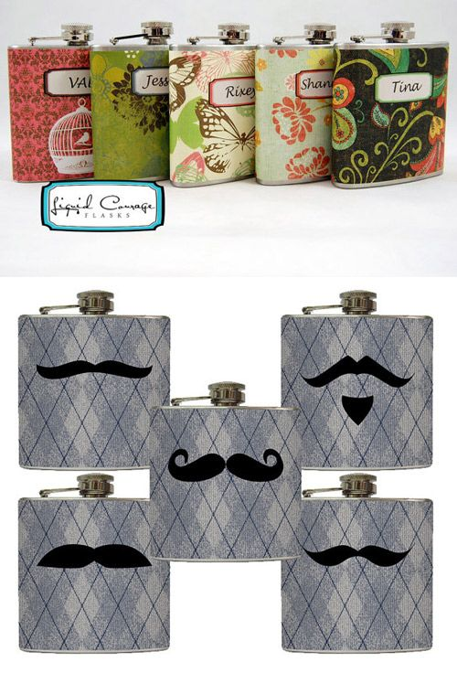 Really cool wedding party gift idea! For brides maids and groomsmen