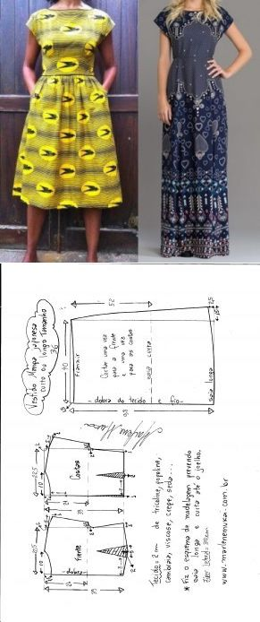 Flared японский платье рукав - DIY - литье, кройки и шитья - Марлен Мукаи