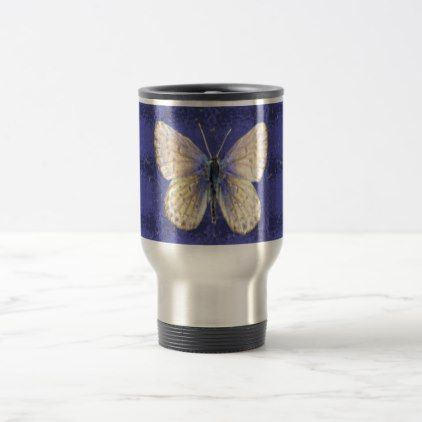 #New Hampshire Karner Blue Butterfly Travel Mug - #office #gifts #giftideas #business
