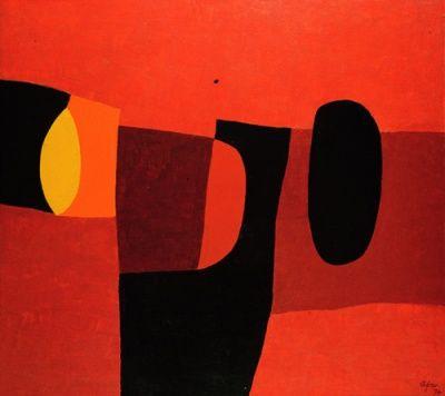 Afro - Tormarancio, 1974 tecnica mista su tela cm 90x100. Abstract artists