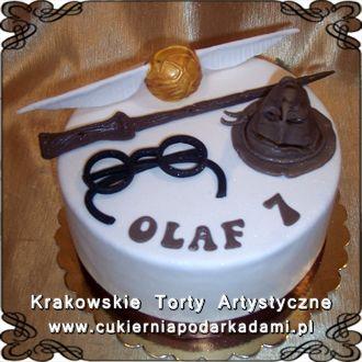 130. Tort dla fanów Harrego Pottera. Harry Potter cake with magic wand.