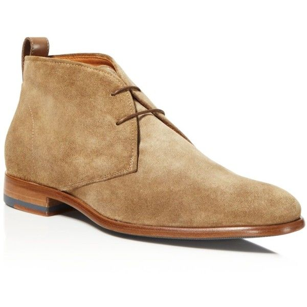 Vince Alberto Chukka Boots ($395) ❤ liked on Polyvore featuring men's fashion, men's shoes, men's boots, flint taupe, mens suede chukka boots, mens suede boots, mens shoes chukka boots, mens chukka boots and mens chukka shoes