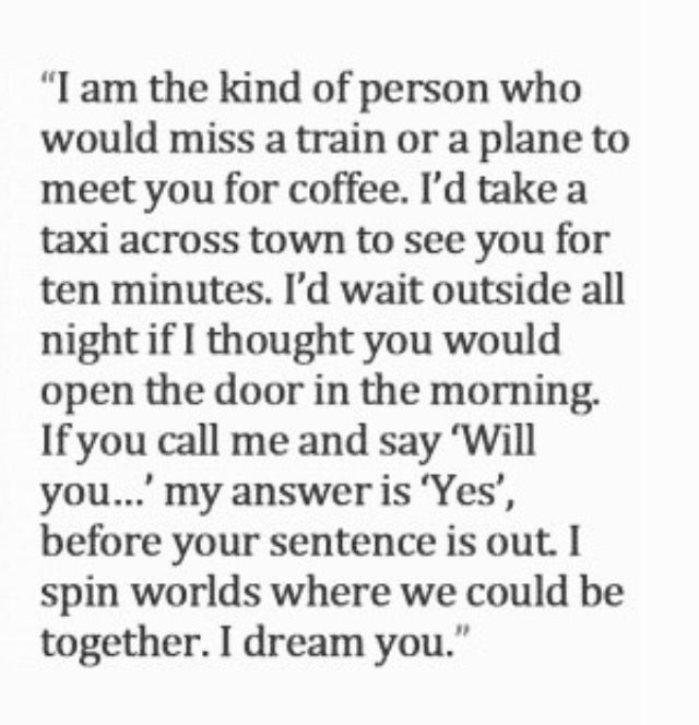 I dream you ...