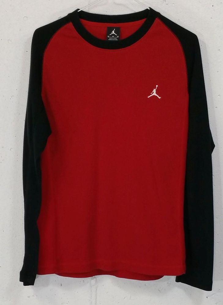 7032865af50 Nike Jordan Jumpman Mens Red Black Long Sleeve Thermal Waffle Shirt Medium  M #Jordan #Thermal
