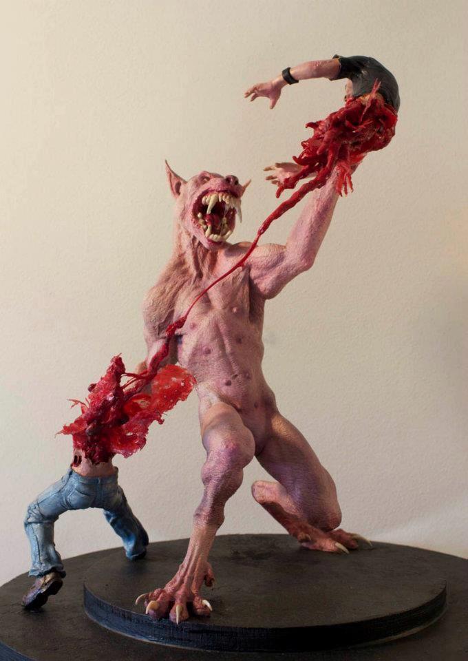 Werewolf sculpture