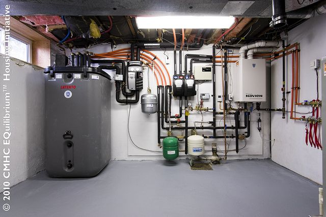 Mechanical Systems View 1 Solar Thermal Hot Water Storage