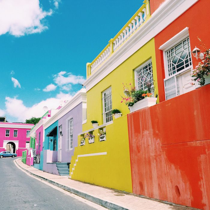 Colorful houses in Bo-Kaap, Cape Town, South Africa
